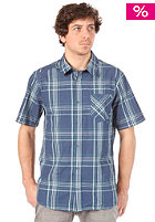 VOLCOM Why Factor Plaid S/S Shirt navy paint