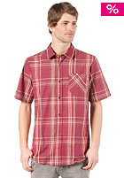 VOLCOM Why Factor Plaid S/S Shirt plum