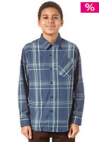VOLCOM Why Factor Plaid S/S T-Shirt navy paint