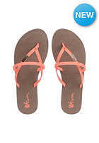 VOLCOM Womens All Night Long Sandals electric coral