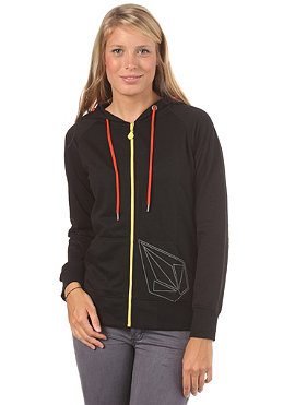 VOLCOM Womens Back In The Line Hooded Zip Sweat black