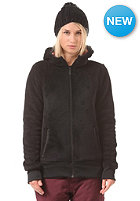VOLCOM Womens Butter Fur Hooded Fleece Jacket black