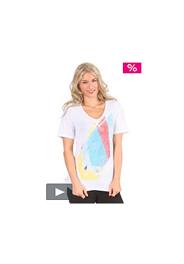 VOLCOM Womens Colorstone V-Neck T-Shirt white
