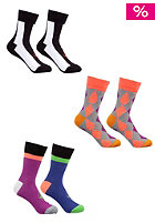 VOLCOM Womens Cut N Paste Ped Socks 3 Pack assorted