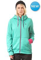 VOLCOM Womens Draw Hooded Zip Fleece island green