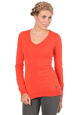 VOLCOM Womens Frochikie V-Neck Sweater fire red