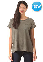 VOLCOM Womens Lived In Burnout S/S T-Shirt military