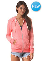 VOLCOM Womens Lived In Hooded Zip Sweat electric coral