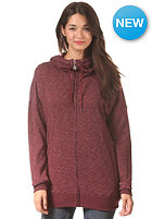 VOLCOM Womens Lived In Long Zip Sweat cabernet