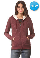 VOLCOM Womens Lived In Sherpa Lined Zip Sweat cabernet