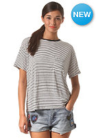 VOLCOM Womens Lived In Stripe S/S T-Shirt black
