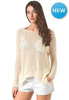 VOLCOM Womens Luv Junkie Knit Sweat pearl