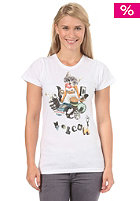 VOLCOM Womens Nana Collage S/S T-Shirt white