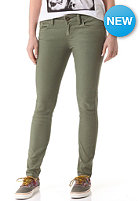 VOLCOM Womens Oily Skinny Colour Jeans army