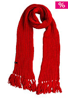 VOLCOM Womens Pom Pom Scarf red