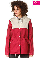 VOLCOM Womens Rain Check Jacket burgundy