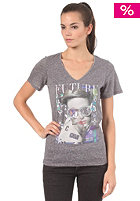VOLCOM Womens Show Me Your V-Neck S/S T-Shirt dark grey