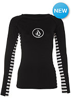 VOLCOM Womens Simply Solid L/S Rashguard black
