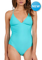 VOLCOM Womens Simply Solid One Piece blue drift wash