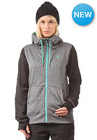 VOLCOM Womens Stone Dot Hooded Fleece Jacket brushed nickel
