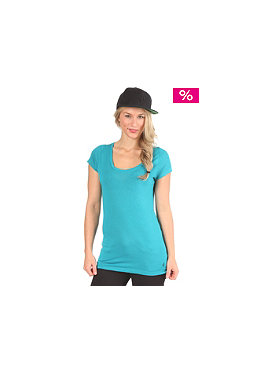 VOLCOM Womens Stone Only Scoop S/S T-Shirt vibrant turquoise