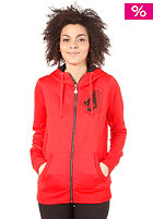 VOLCOM Womens Stone Stade Hooded Zip Sweat poppy red