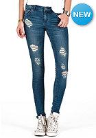 VOLCOM Womens Super Stoned Skinny Denim Pant camper blue