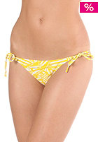VOLCOM Womens Time Lines Tie Side Rouch Skimpy Bikini Pant yellow stone print