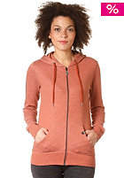 VOLCOM Womens Timesoft Hooded Zip Fleece rust brown