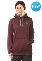 VOLCOM Womens Toller Fleece Hooded Sweat burgundy