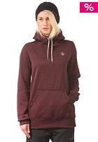 VOLCOM Womens Toller Fleece Hooded Sweat burgundy