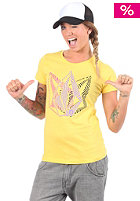 VOLCOM Womens Trip Tip S/S T-Shirt yellow