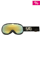 VONZIPPER Womens Chakra Black Gloss gold chrome
