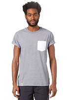 WEMOTO Blake S/S T-Shirt blue / white ms