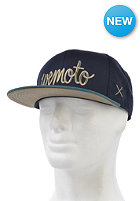 WEMOTO Script Snapback Cap navy/bottle green