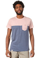 WEMOTO Shorty S/S T-Shirt burlwood melange / darkblue melange