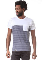 WEMOTO Shorty S/S T-Shirt white/navy stripe