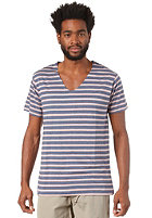 WEMOTO Vernon S/S T-Shirt darkblue melange / burlwood bs