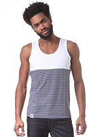 WEMOTO Vice Tank Top white/navy stripe