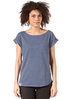 WEMOTO Womens Bell S/S T-Shirt darkblue melange