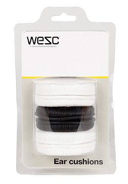 WESC 3 Pair Of Ear Cushions white/black