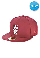 WESC 59Fifty Fitted Cap rumba red