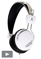 WESC Bongo Hands Free Headphones white/grey