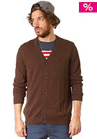 WESC Borik Knit Zip Sweat dark chocolate