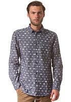 WESC Brokeback L/S Shirt mood indigo