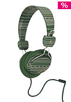 WESC Conga Larper Stripe Headphone forest green