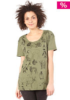 WESC Ice Bjrn Aop S/S T-Shirt bronze green