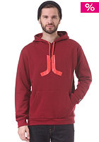 WESC Icon Hooded Sweat rumba red