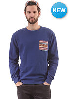 WESC Kelim Crewneck Sweatshirt blue depths