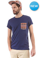 WESC Kelim Pocket S/S T-Shirt blue depths